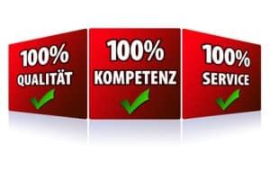 Qualität, Kompetenz, Service